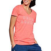 Under Armour Women's Tech Graphic Twist V-Neck T-Shirt