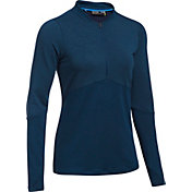 Under Armour Women's Threadborne 1/2-Zip Golf Mock