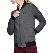 Under Armour Women's Threadborne Fleece Bomber Jacket