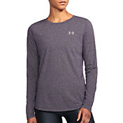 Under Armour Women's Threadborne Twist Print Crewneck Long Sleeve Shirt