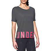 Under Armour Women's Wordmark Hem Crop T-Shirt