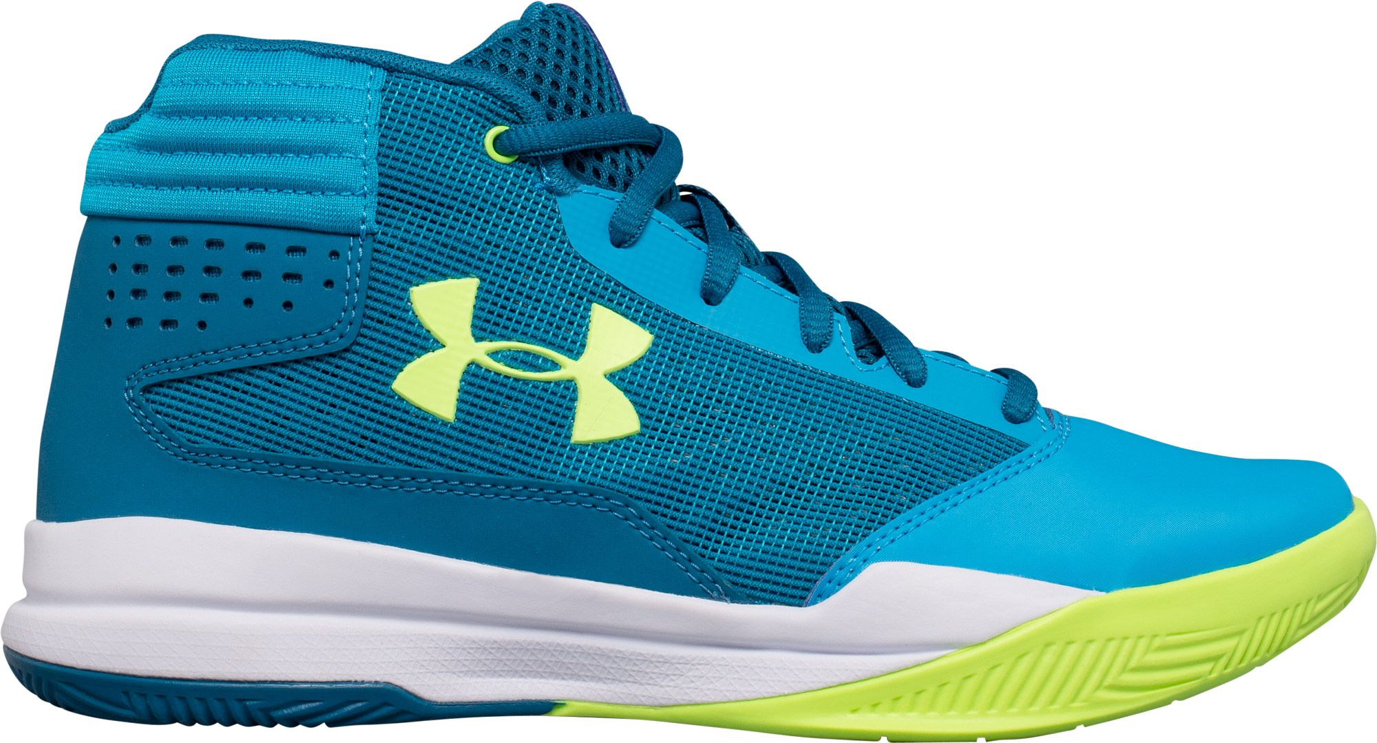 Product Image � Under Armour Kids\u0027 Grade School Jet 2017 Basketball Shoes �  Blue Shift � Black/ ...