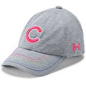 Under Armour Youth Girls' Chicago Cubs Twisted Renegade Adjustable Hat
