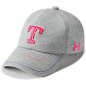 Under Armour Youth Girls' Texas Rangers Twisted Renegade Adjustable Hat