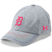 Under Armour Youth Girls' Detroit Tigers Twisted Renegade Adjustable Hat