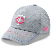 Under Armour Youth Girls' Minnesota Twins Twisted Renegade Adjustable Hat