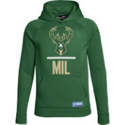 Under Armour Youth Milwaukee Bucks Green Lockup Fleece Hoodie