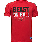 """Under Armour Youth Chicago Bulls """"Beast On Ball"""" Red Tech Performance T-Shirt"""