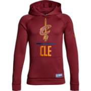 Under Armour Youth Cleveland Cavaliers Burgundy Lockup Fleece Hoodie