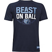 "Under Armour Youth Memphis Grizzlies ""Beast On Ball"" Navy Tech Performance T-Shirt"
