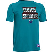 "Under Armour Youth Charlotte Hornets ""Clutch Shooter"" Teal Tech Performance T-Shirt"