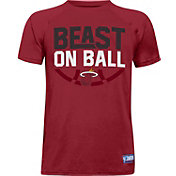 "Under Armour Youth Miami Heat ""Beast On Ball"" Red Tech Performance T-Shirt"