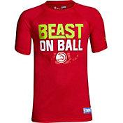 "Under Armour Youth Atlanta Hawks ""Beast On Ball"" Red Tech Performance T-Shirt"