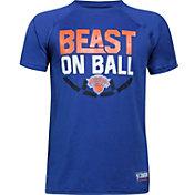 "Under Armour Youth New York Knicks ""Beast On Ball"" Royal Tech Performance T-Shirt"