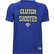 """Under Armour Youth New York Knicks """"Clutch Shooter"""" Royal Tech Performance T-Shirt"""