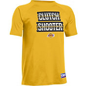 "Under Armour Youth Los Angeles Lakers ""Clutch Shooter"" Gold Tech Performance T-Shirt"
