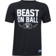 "Under Armour Youth Brooklyn Nets ""Beast On Ball"" Black Tech Performance T-Shirt"
