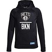 Under Armour Youth Brooklyn Nets Black Lockup Fleece Hoodie