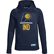 Under Armour Youth Indiana Pacers Navy Lockup Fleece Hoodie