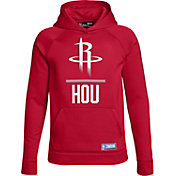 Under Armour Youth Houston Rockets Red Lockup Fleece Hoodie