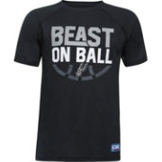 "Under Armour Youth San Antonio Spurs ""Beast On Ball"" Black Tech Performance T-Shirt"