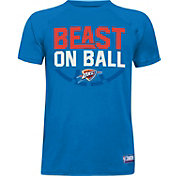 "Under Armour Youth Oklahoma City Thunder ""Beast On Ball"" Blue Tech Performance T-Shirt"