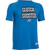 "Under Armour Youth Oklahoma City Thunder ""Clutch Shooter"" Blue Tech Performance T-Shirt"