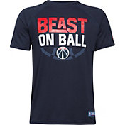 "Under Armour Youth Washington Wizards ""Beast On Ball"" Navy Tech Performance T-Shirt"