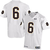 Under Armour Youth Notre Dame Fighting Irish White #6 Replica Football Jersey