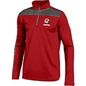 Under Armour Youth Wisconsin Badgers Football Red UA Tech Quarter Zip Shirt