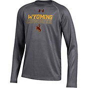 Under Armour Youth Wyoming Cowboys Grey Tech Performance Long Sleeve Shirt