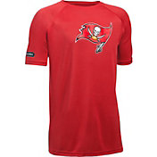 Under Armour NFL Combine Authentic Youth Tampa Bay Buccaneers Logo Tech Red T-Shirt