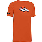 Under Armour NFL Combine Authentic Youth Denver Broncos Logo Tech Orange T-Shirt