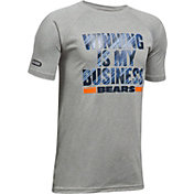 Under Armour NFL Combine Authentic Youth Chicago Bears Winning Business Grey T-Shirt