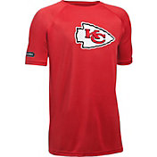 Under Armour NFL Combine Authentic Youth Kansas City Chiefs Logo Tech Red T-Shirt