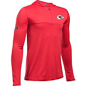 Under Armour NFL Combine Authentic Youth Kansas City Chiefs Tech Red Quarter-Zip Hoodie