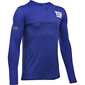 Under Armour NFL Combine Authentic Youth New York Giants Tech Blue Quarter-Zip Hoodie