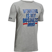 Under Armour NFL Combine Authentic Youth New York Giants Winning Business Grey T-Shirt