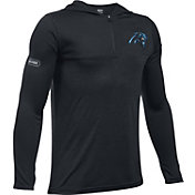 Under Armour NFL Combine Authentic Youth Carolina Panthers Tech Black Quarter-Zip Hoodie