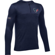 Under Armour NFL Combine Authentic Youth Houston Texans Tech Navy Quarter-Zip Hoodie