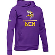 Under Armour NFL Combine Authentic Youth Minnesota Vikings Lockup Armour Fleece Purple Hoodie