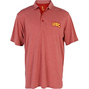 USC Authentic Apparel Men's USC Trojans Heathered Cardinal Pike Polo