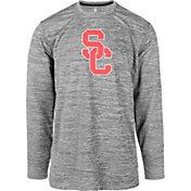 USC Authentic Apparel Men's USC Trojans Grey Basken Shock Long Sleeve Shirt