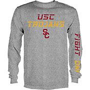 USC Authentic Apparel Men's USC Trojans Grey Dash Long Sleeve Shirt
