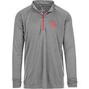 USC Authentic Apparel Men's USC Trojans Grey River Quarter-Zip Shirt