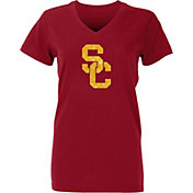 USC Authentic Apparel Women's USC Trojans Cardinal Galaxy V-Neck T-Shirt