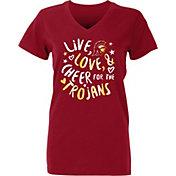 USC Authentic Apparel Youth Girls' USC Trojans Cardinal Knoll T-Shirt