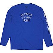 Salt Water Soul Men's Oval Logo Performance Long Sleeve Shirt