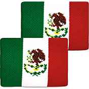 Unique Sports Mexico Flag Soccer Wristbands