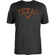 University of Texas Authentic Apparel Men's Texas Longhorns Heathered Black Worn Arch T-Shirt